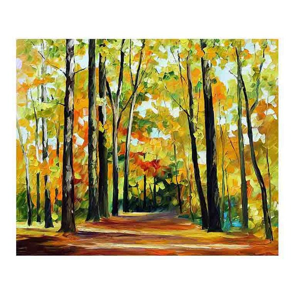 36x48 Hand-painted canvas oil painting birch forest living room sofa background wall decoration painted villa European painting