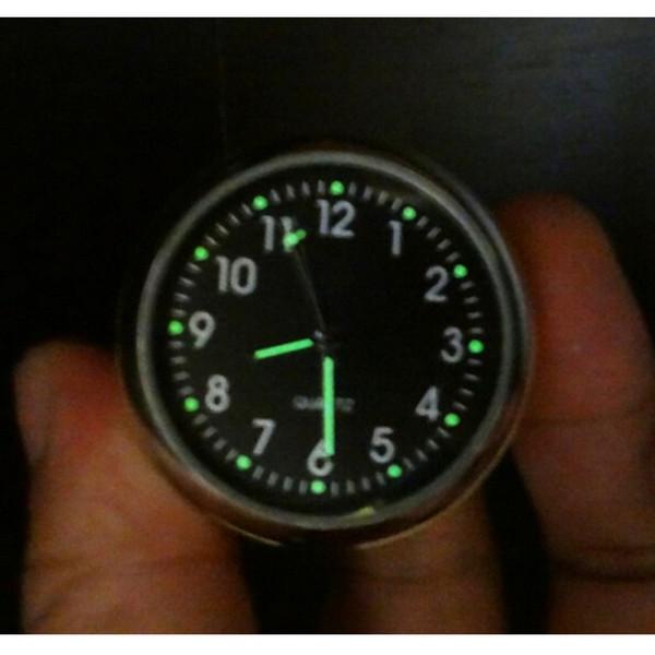 جديد جودة عالية ميكانيكا السيارات luminova كوارتز ساعة البسيطة noctilucent مؤشر ساعة رقمية ل وازم السيارات الديكور