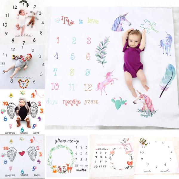 Nouveau-né Swaddle Couvertures du nouveau-né Photographie Contexte Props photo de bébé en tissu pour bébés Couvertures Backdrops Wrap 100 * 100 cm