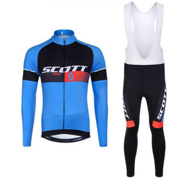 SCOTT team Cycling long Sleeves jersey bib pants sets 2019 Men Clothing Bicycle Jersey Clothes Sportswear