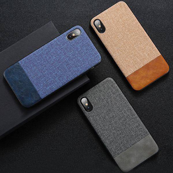 Luxury Cloth Fabric PU Leather Silicone TPU Case For iPhone XS Max XR X 8 7 6 Samsung S8 S9 Plus S10 S10E Note 9 J2 Core J4 J6 J8 2018