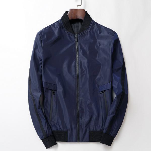 Para hombre de la marca del diseñador de moda Ninguno Impreso de manga larga de la cremallera chaquetas Fomal Bussiness maduro túnicas fuera de calidad superior EAR19992