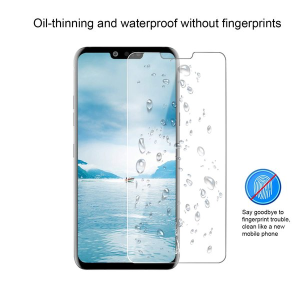 For LG G8 ThinQ One Plus 7 Coolpad Legacy Anti Fingerprint 2.5D Clear Regular Screen Protector Tempered Glass With Retail Package