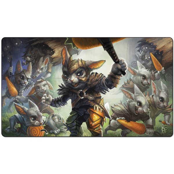Magic Board Game Playmat:Hoppin' Rabbitmaster playma 60*35cm size Table Mat Mousepad Play Matwitch fantasy occult dark female wizard2Trial o