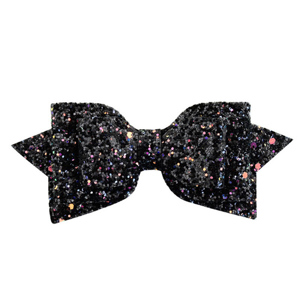 2019 Ins Baby Girls Sequin Bowknot Barrettes Kids Children Bow Headwear Gradient Color Hairpin Hair Clips Designer Headbands Hairgrip New