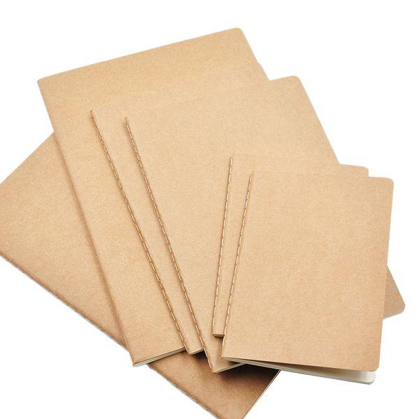 1Pcs Cowhide Paper Notebook Blank Notepad Book Vintage Soft Copybook Daily Memos Kraft Cover Journal Notebook