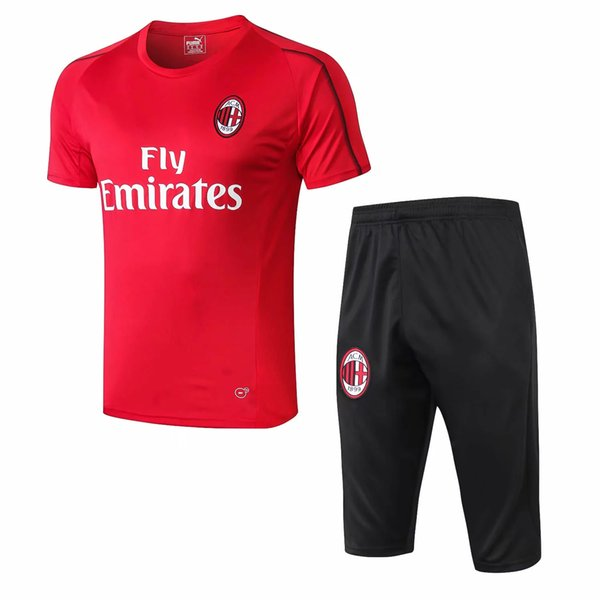 best selling Top new 18 19 AC Milan Short sleeve soccer jerseys HIGUAIN training suit KAKA tracksuit suit CALHANOGLU maillot de foot