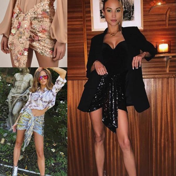 Black Fashion Designers 2020.2019 Designer 2020 Black Gold Silver Pleats Sequin Women S Skirts V Letter Print Elastic Waist Skirts Womens Designers From Hot Wind 33 35