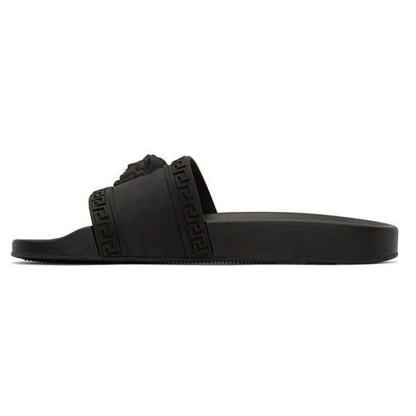 Versace NOUVEAU Designer de luxe Slipper medusa Slide pvc Gear Bottoms Hommes Femmes D'été Sandales De Plage Noir Blanc Bleu Marine Pantoufles Antidérapantes Flip Flops