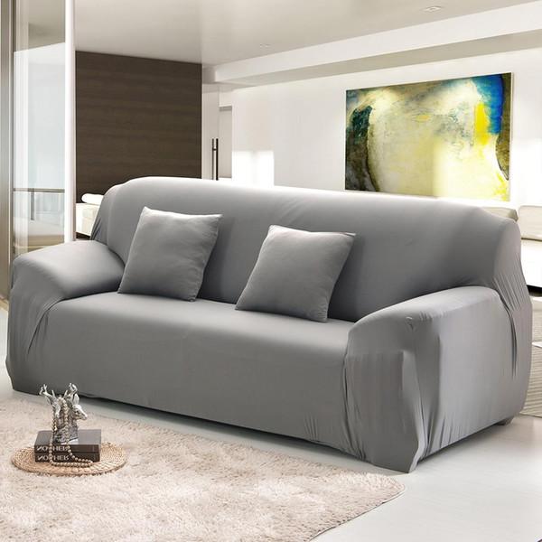 Oturma odası için kanepe kapakları Modern Kanepe Kapak Elastik Polyester Havlu Mobilya Koruyucu Polyester Aşk koltuk Kanepe Kapak