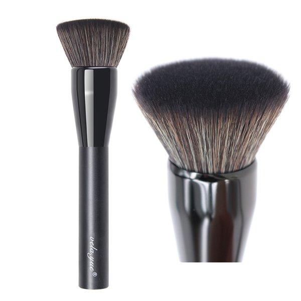 2019 Fundación de moda profesional Pincel de maquillaje Flat Top Kabuki Cepillo facial Herramienta de cosméticos multiusos