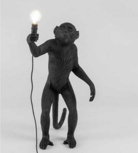 scimmia lampada da terra nera
