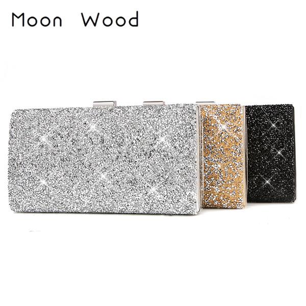 Female Clutch 2019 Luxury Handbags Diamond Evening Bag Bling Banquet Party Wedding Purses Clutch Wallet Gold Silver Black Y19051702