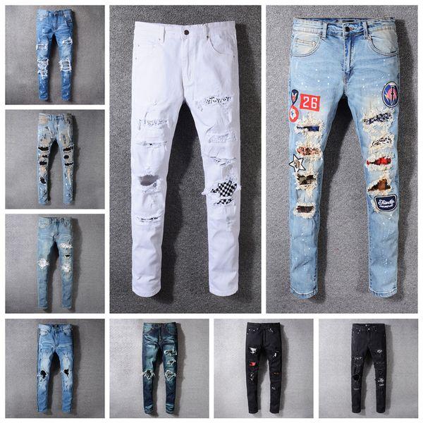 Men Denim Straight Jeans 16 Styles Biker Skinny Jeans Casual Trousers Cowboy Zipper Designer Jeans Trousers OOA6559