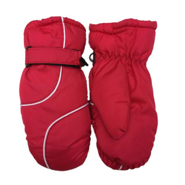 Free Shipping 1 pair Children Winter Warm Ski Gloves Boys/Girls Sports Waterproof Windproof Mittens Extended Wrist Skiing Gloves