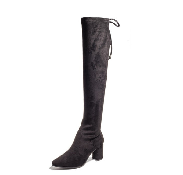 Womens Over knee micro suded boots women classic designer boots ladies thigh-high boots lady high heels zy887
