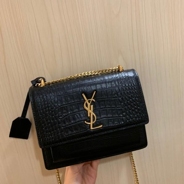 2019 бренд моды роскошные дизайнерские сумки сумки Сумка через плечо сумки 2019 новые продукты 23×16×7 см Крокодил дизайн
