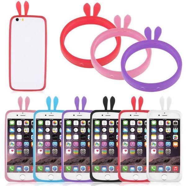 Универсальный силиконовый сотовый мобильный телефон граница флуоресцентный бампер защитная крышка световой силиконовый браслет чехол для iphone для Samsung sony