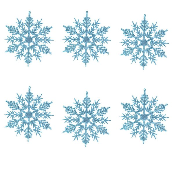 6pc Christmas Decoration Snowflakes 10cm Classic Snowflake Ornaments Christmas Tree Hanging new year Home Decor #4n14