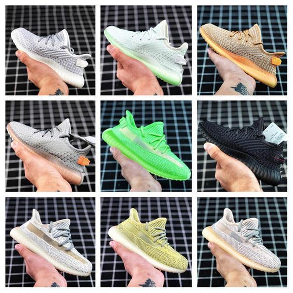 Chaussures Enfants Kanye West enfants Chaussures de sport Sport Chaussures Garçon Fille jogging Primeknit multi couleurs Taille 26-35
