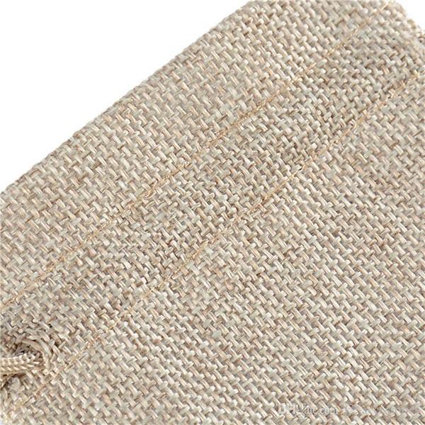 4 Sizes original jute Bag Drawstring Wedding&Christmas Packaging Pouchs & Gift Bags Small Jewelry Sachet &Mini Jute bags