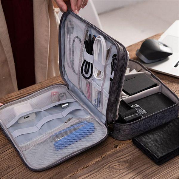 Sacs de rangement Organisateurs numériques Câbles fils Soutien-gorge Underware cosmétiques Sac de toilette Housse Zipper Paquet Accessoires sac à main