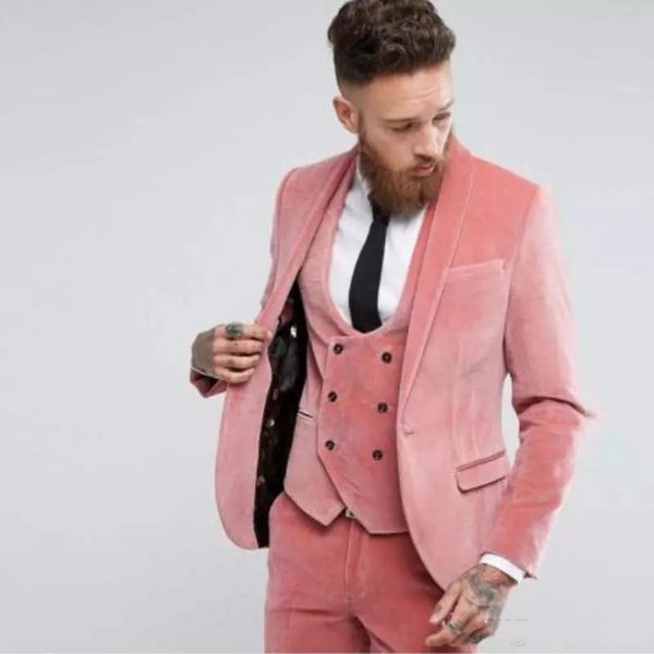 Beau One Button Groomsmen Shawl Lapel smokings marié hommes Costumes de mariage / Prom / Dîner Best Man Blazer (veste + pantalon + cravate + Gilet) 1008