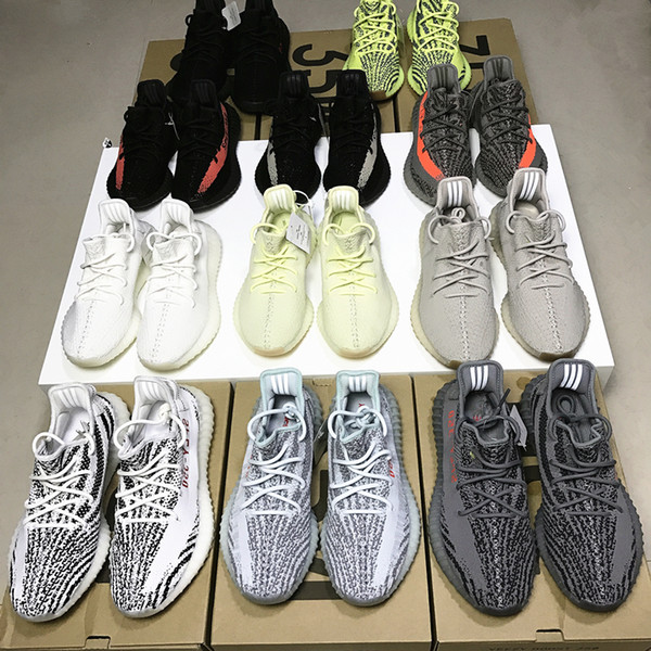 best selling Sply Yee zy 350 V2 Semi Frozen Yellow Beluga 2.0 Blue Tint Cream White Bred Zebra Black Red White Men Women Runing Shoes Wholesale