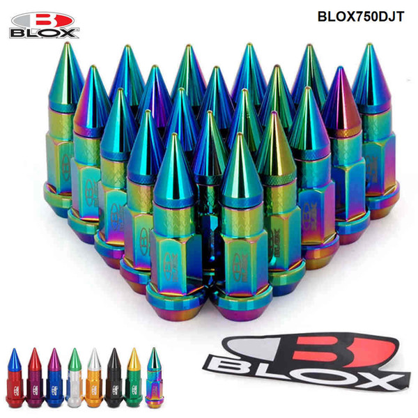 top popular 20PCS SET Blox Racing Jdm Style 50MM Aluminium Extended Tuner Lug Nuts With Spike For Wheels Rims M12X1.25   M12X1.5 BLOX750DJT 2021