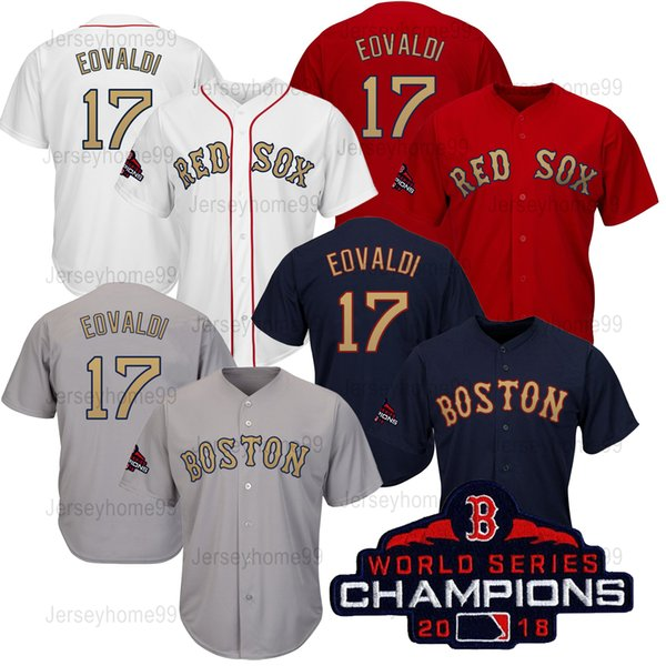 big sale f65e0 a9677 2019 2018 Boston Red Sox World Series Champions Jerseys Men'S Women  Toddlers Baseball Jerseys Nathan Eovaldi With Champion Patch S XXXL From ...