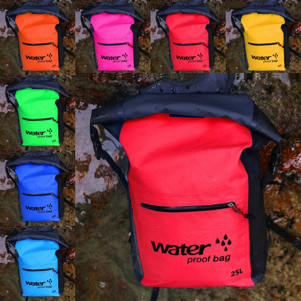 2019 Waterproof bags For Camping Swimming Hiking Kayaking Dry Bag Sack Floating Backpack Portable Storage Containers For Clothes Phone M237Y