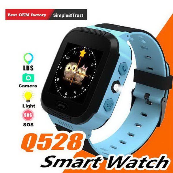 GPS Children Smart Watch Anti-Lost Flashlight Baby Kid Smart Wristwatch SOS Call Location Device Tracker Kid Safe vs Q528 Q750 Q100 Q42 DZ09