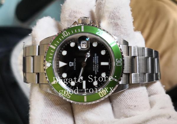 Vintage BP Factory Uhren Mens Automatic 2813 Uhr Männer Green Alloy Lünette 50th Anniversary 16610LV Dive Sub 16610 Perpetual Armbanduhren