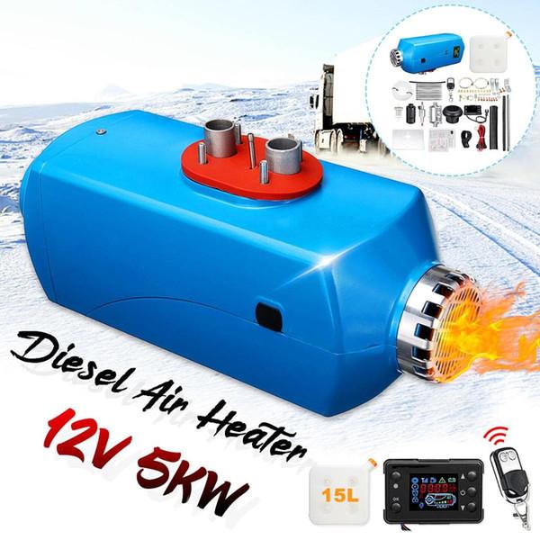 Neueste 12 V 5000 Watt Diesels Standheizung LCD Monitor Luftheizung Fernbedienung 15L Tank Für Lkw Boote RV Anhänger Auto Heizung