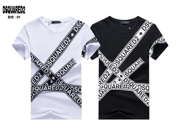 Maglietta degli uomini di modo lettera stampa cotone o-collo manica corta t-shirt marca estate maschile casual uomo design hip hop rock tops tees # 5087