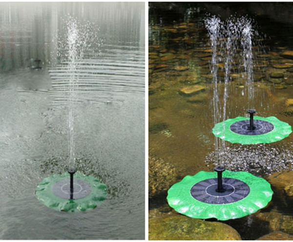 Solar Powered Fountain Pump Lotus Leaf Fountain Floating Water Pump for Bird Bath Ponds Gardens Pool Outdoor Decoration