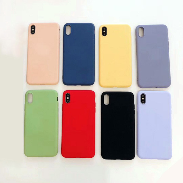 the best attitude 51c23 1786b Silicone Cases For IPhone 6 7 8 Plus Liquid Silicone Case Cover For IPhone  X XR XS Max Shockproof Phone Case Cover Candy Colors Back Cover Cell Phone  ...