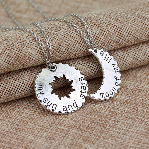 10pcs 1 Set Game Thrones His&hers Khal/khaleesi Lovers Chain Necklaces Moon Of My Life,my Sun & Stars Pendants Jewelry C19041203