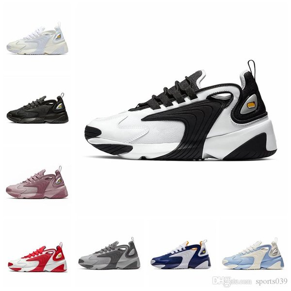 Nike 2019 Triple Black M2k Tekno Zoom 2K Hombres mujeres Zapatillas de running Creamy White Race Red Royal Blue Designer Sports Ssneakers Mens Trainer 36-45