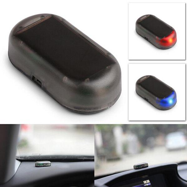 Araba Led Işık Alarm Sistemi Anti-Theft Flaş Yanıp sönen Sahte Güneş Oto Alarm Güvenlik İmitasyon Evrensel