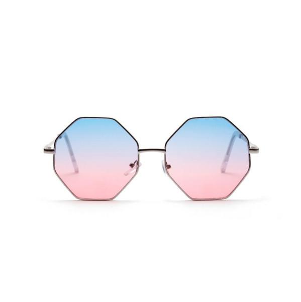 Luxury-Hot Sale Women Fashion Square Sunglasses Colored transparent Marine lens Sun Glasses Elegant Brand Designer polygon diamond glass men
