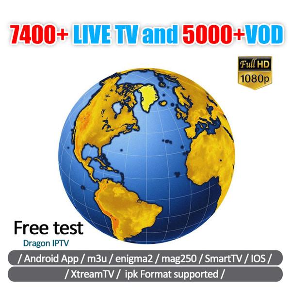Nuovo IPTV sottoscrizione di abbonamento di 40 paesi caldi Football Match Mag Live Free VOD Android Box IOS Smart TV Francia Germania Regno Unito Panel Reseller
