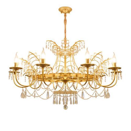 New design American crystal chandelier lamps home living room retro chandelier lights restaurant bedroom vintage led crystal pendant lamps