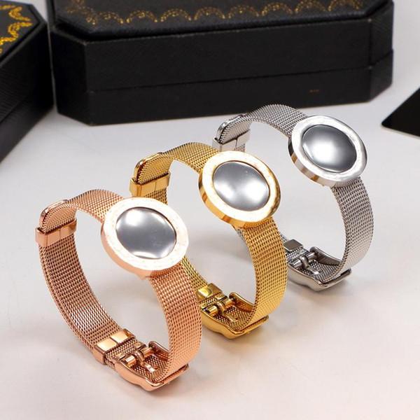 2018 Watch Belt Titanium Steel Bracelets silver rose gold Bangles Women Men Bracelet with original box set