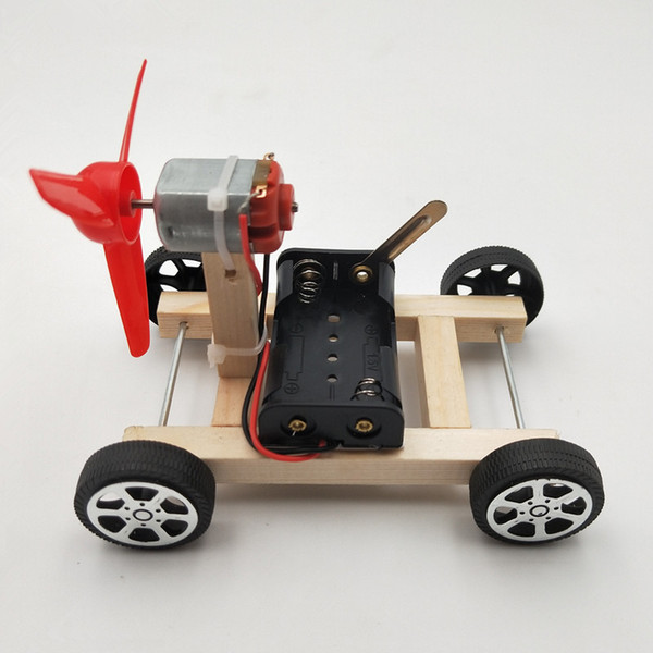 top popular DIY Wind Power Car Small Production Science and Technology Educational Model Assembled Toys Creative Novelty Gifts For Children C6154 2021