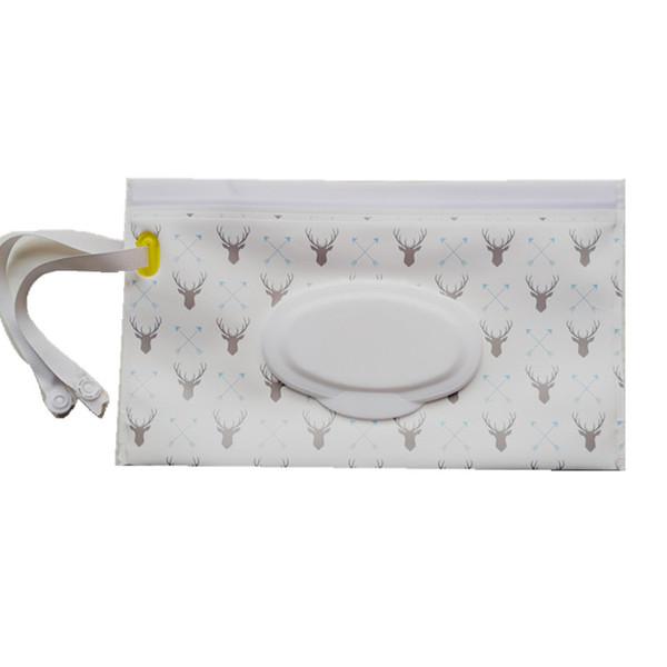 Mode de transport Lingettes d'embrayage cas et propre sac humide lingettes pour poussette cosmétique Pochette Easy-Carry Snap-Strap 30 modèles