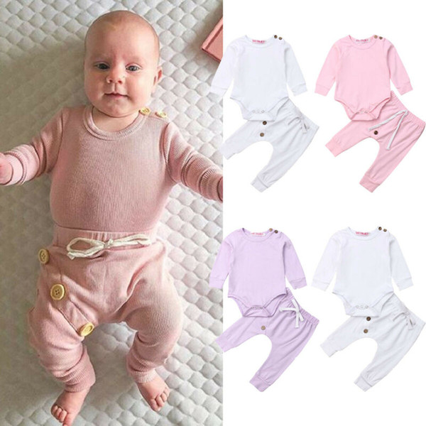 pudcoco 2019 Children Clothing Suits For Girls Clothes Kids Toddler Enfant Fille Infantis Outfits Solid 3 Color Bodysuit + Pants pudcoco 2019 Children Clothing Suits For Girls Clothes Kids Toddler Enfant Fille Infantis Outfits Solid 3 Color Bodysuit + Pants