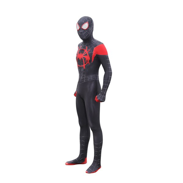 Holiday Costume Black Lycra Spandex Zentai Suit Spiderman Costumes S-XXL