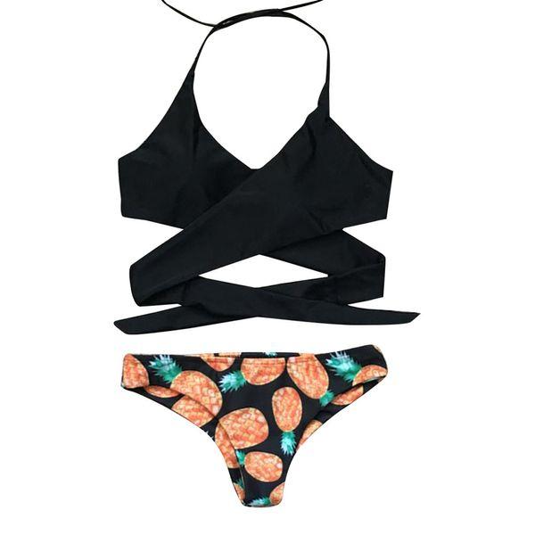 ISHOWTIENDA Bikini Push Up Women Push-up Padded Bra Split Bikini Set Swimwear Swimsuit Bathing Beachwear Beach Wear Bathing Suit