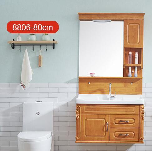 sports shoes cfb05 f1ac7 2019 Bathroom Furniture European 80cm Oak Bathroom Cabinet Combined  Bathroom Wash Basin Wash Table Wooden Sanitary Ware Cabinet From Jennet,  $266.34 | ...